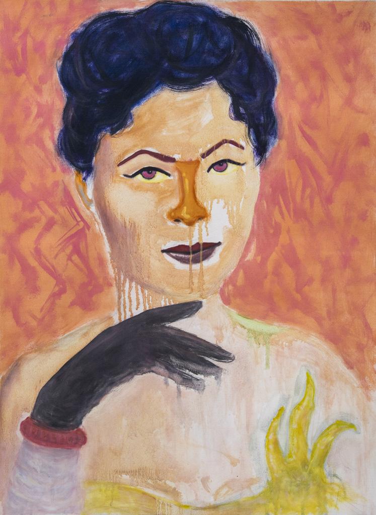 Study for Lady G, Contemporary painting by romanian artist Augustin Razvan Radu