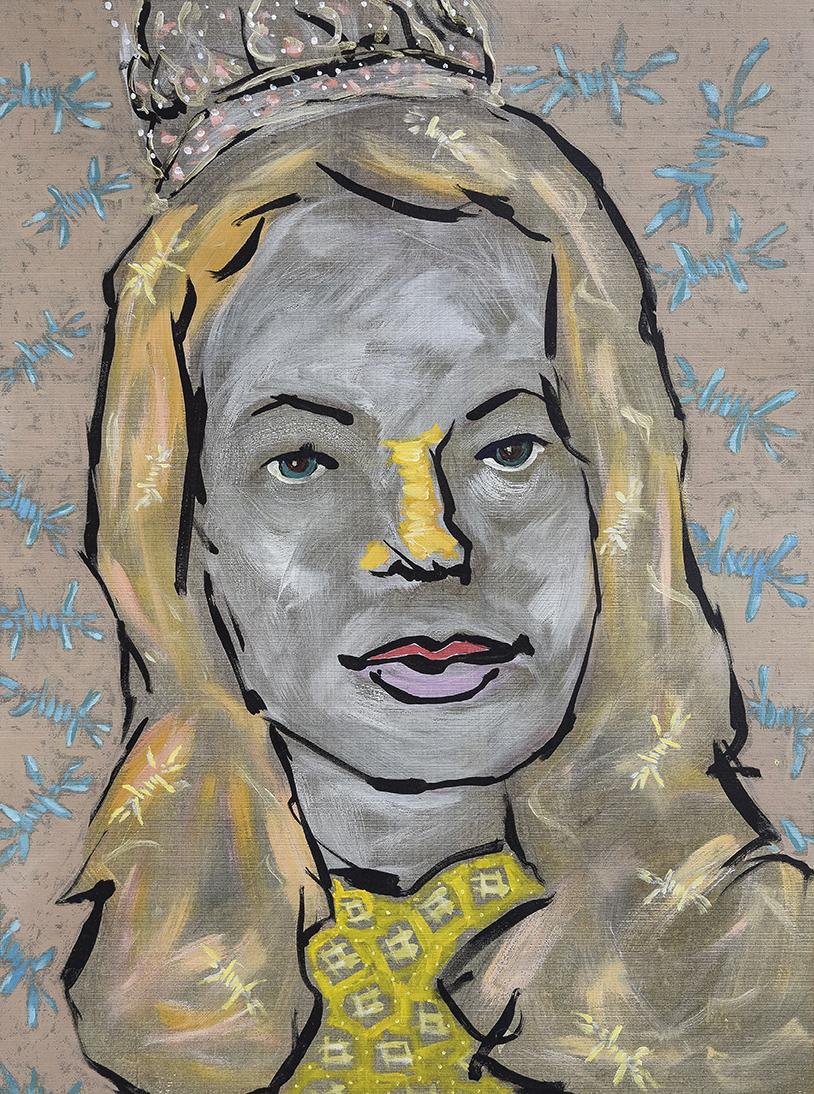 Sylvia Hitchcock, Contemporary painting by romanian artist Augustin Razvan Radu